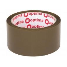 Лента клейкая упаковочная 48 мм х 50 м х 43 мкм Optima Extra, коричневая