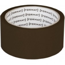 Лента клейкая упаковочная 45 мм х 50 яр. Format, коричневая